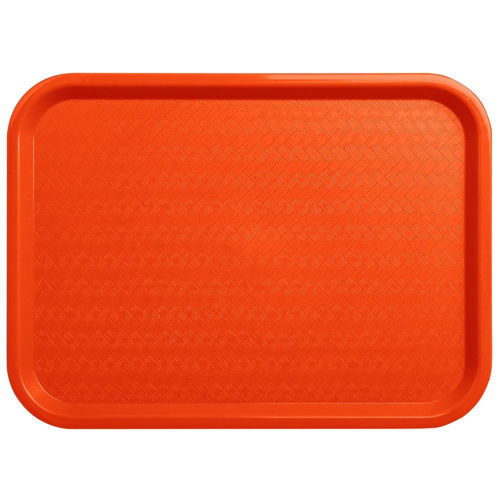 "Carlisle CT121624 Cafe 12"" X 16"" Orange Standard Plastic"