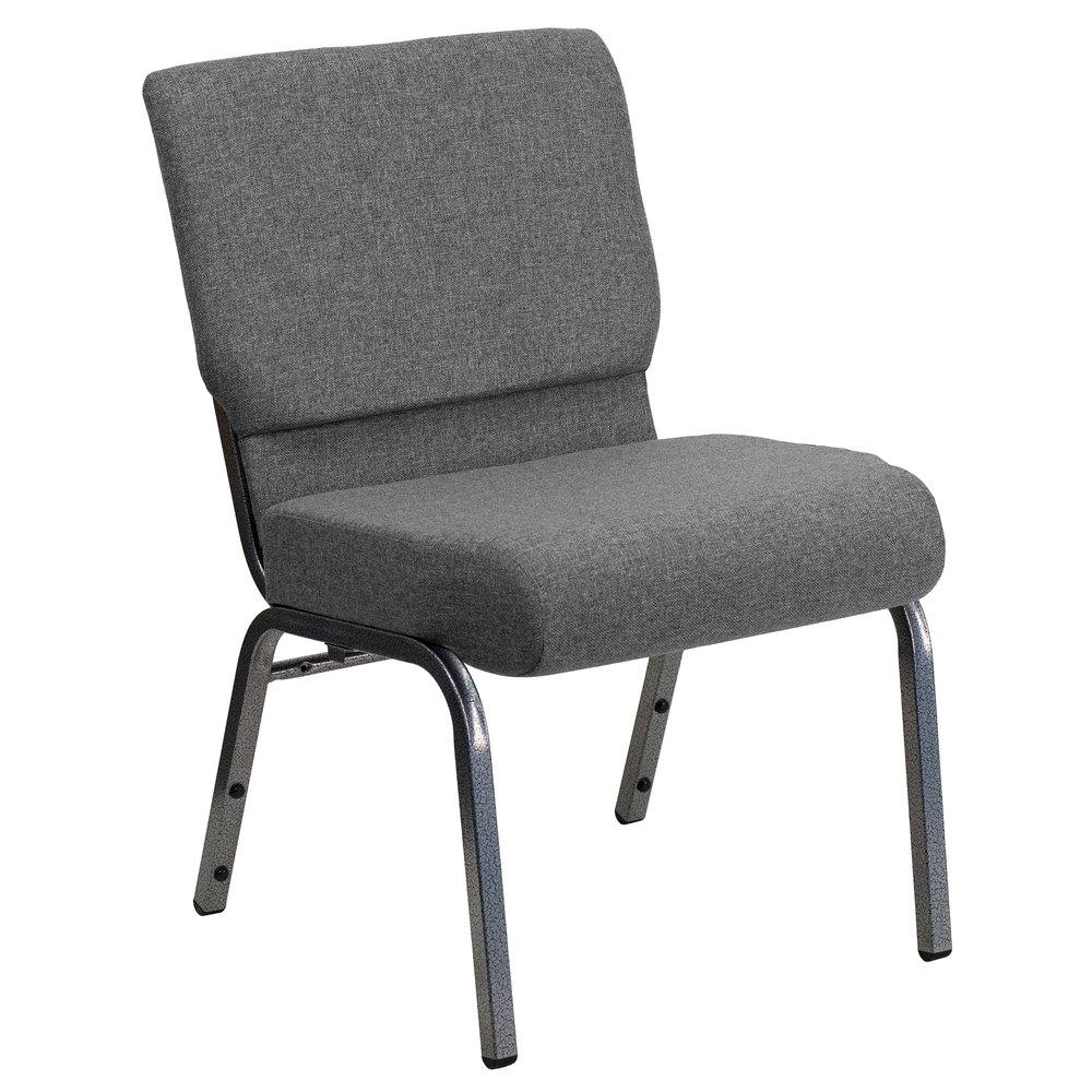 Captivating Flash Furniture XU CH0221 GY SV GG Hercules Series Gray 21 Inch ...