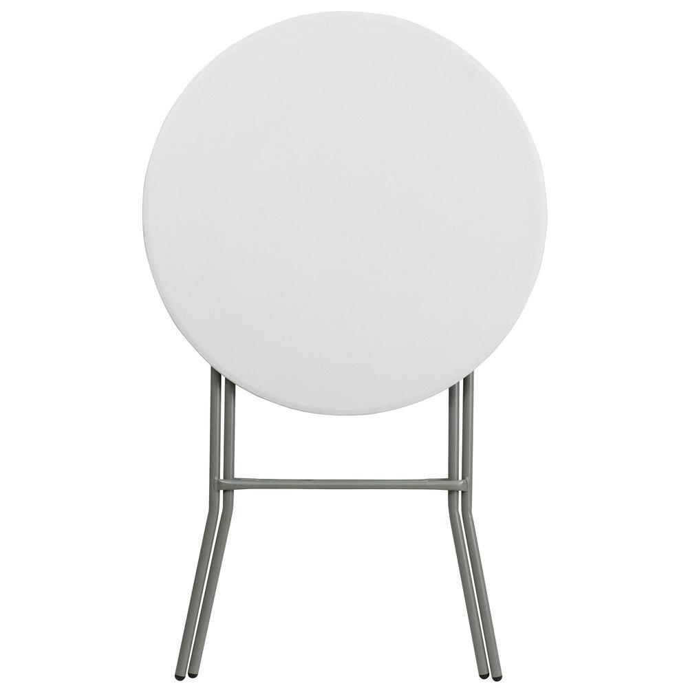 "Flash Furniture DAD YCZ 80R 2 BAR GW GG 32"" Round Granite White"