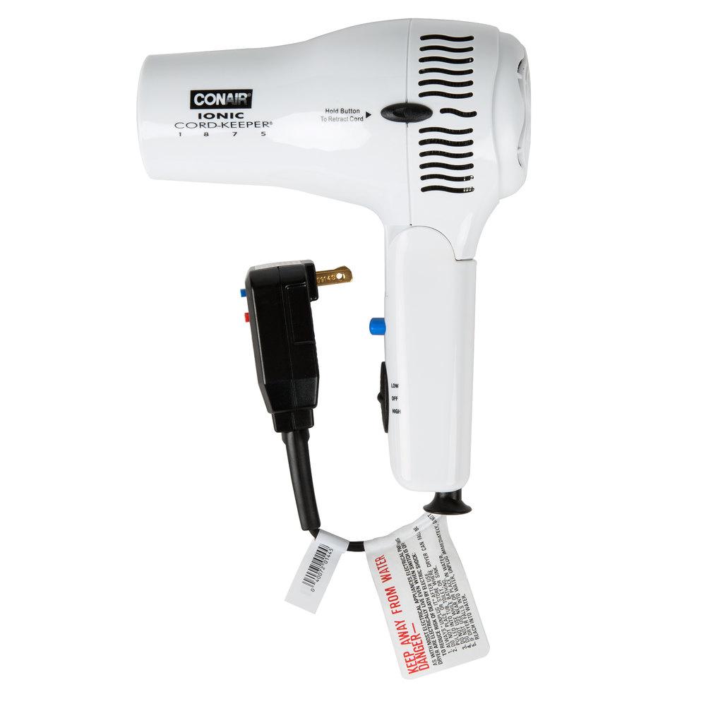 conair 169wiw white cord keeper hair dryer 1875w. Black Bedroom Furniture Sets. Home Design Ideas