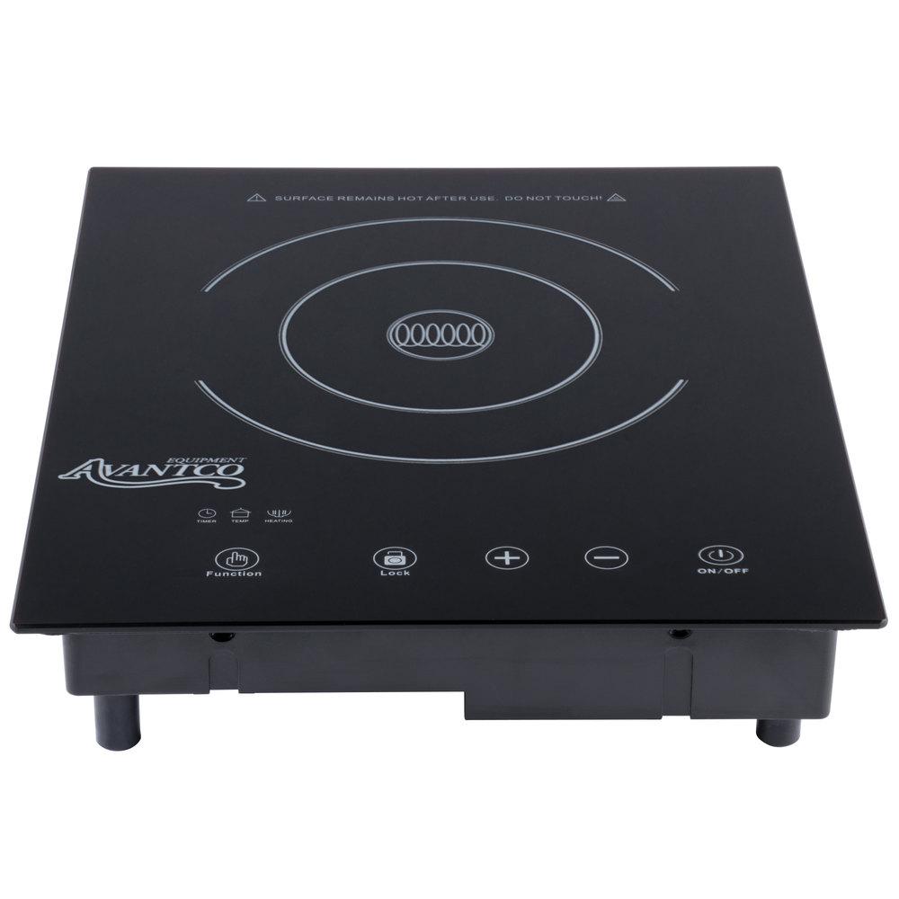 Avantco Id1800 Drop In Induction Range Cooker 120v 1800w