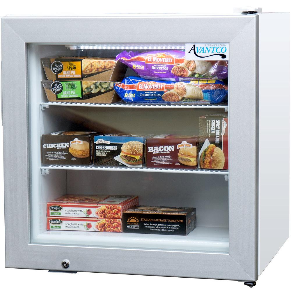 Countertop glass door refrigerator countertop glass door freezer 115 volts avantco cfm2 white countertop display freezer with swing door planetlyrics Gallery
