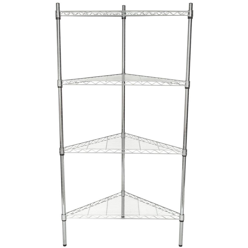 Regency 24 inch NSF Chrome Triangle Shelf Kit with 64 inch Posts