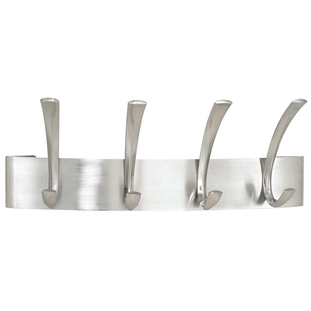 Safco 4205sl Brushed Nickel Metal Four Peg Coat Hook