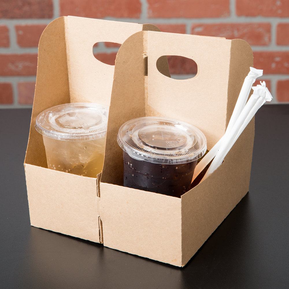 Champion Drink: Southern Champion 2795 2 Cup Kraft Pop-Up Drink Carrier
