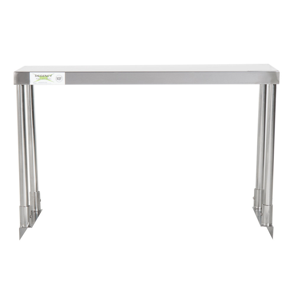 Regency Stainless Steel Single Deck Overshelf - 12 inch x 30 inch x 19 1/4 inch