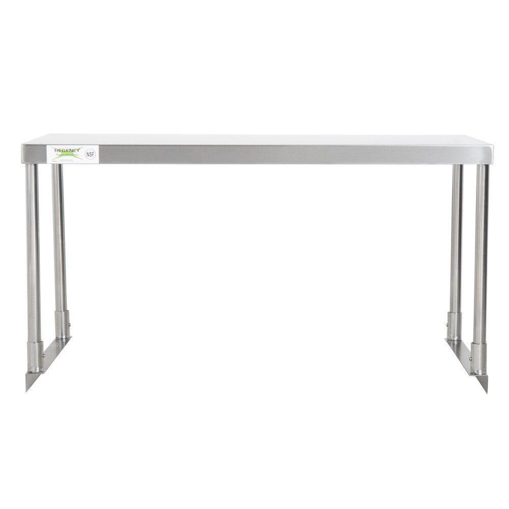 Regency Stainless Steel Single Deck Overshelf - 18 inch x 36 inch x 19 1/4 inch