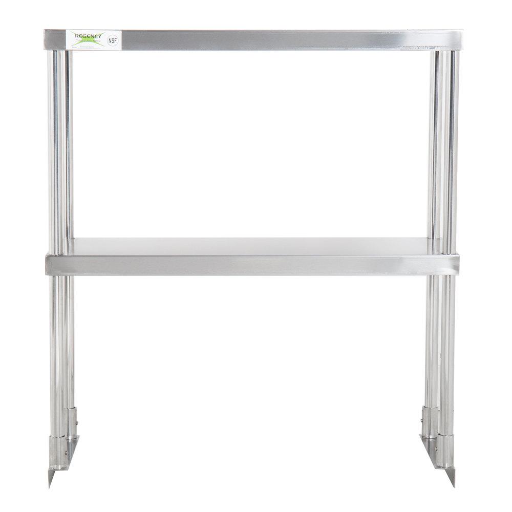 Regency Stainless Steel Double Deck Overshelf - 12 inch x 30 inch x 32 inch