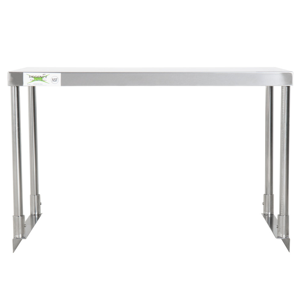 Regency Stainless Steel Single Deck Overshelf - 18 inch x 30 inch x 19 1/4 inch