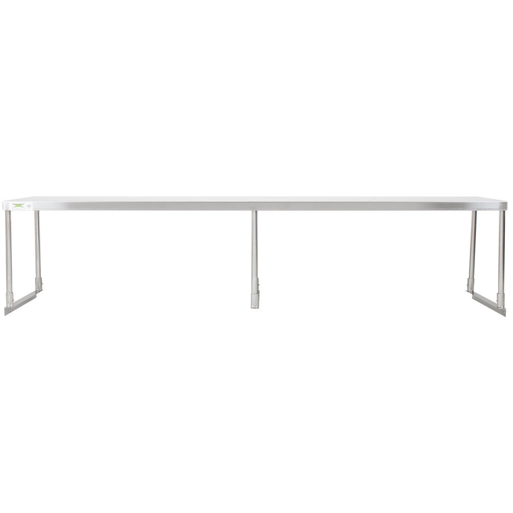 Regency Stainless Steel Single Deck Overshelf - 18 inch x 84 inch x 19 1/4 inch
