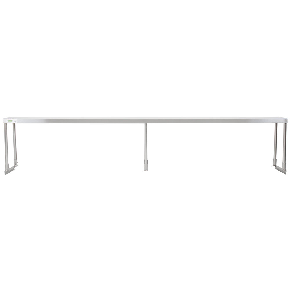 Regency Stainless Steel Single Deck Overshelf - 12 inch x 96 inch x 19 1/4 inch