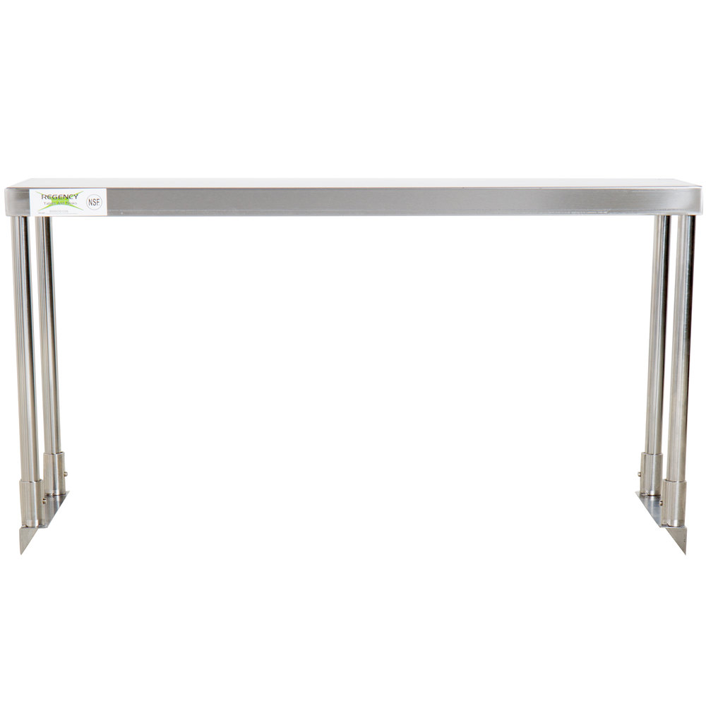 Regency Stainless Steel Single Deck Overshelf - 12 inch x 36 inch x 19 1/4 inch