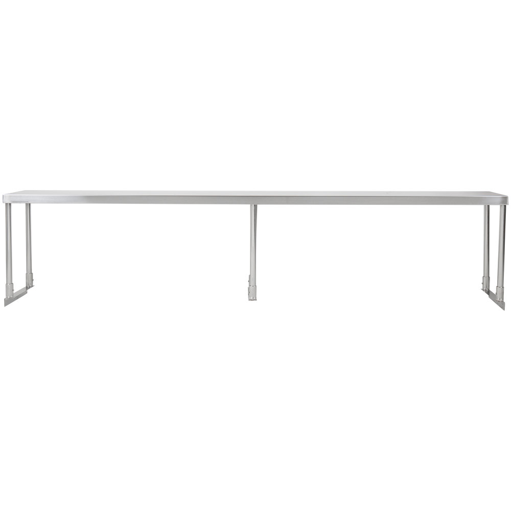 Regency Stainless Steel Single Deck Overshelf - 12 inch x 84 inch x 19 1/4 inch