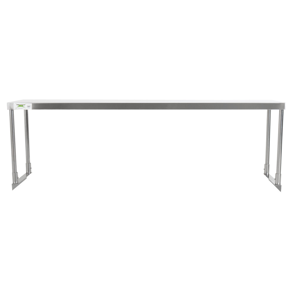 Regency Stainless Steel Single Deck Overshelf - 18 inch x 60 inch x 19 1/4 inch