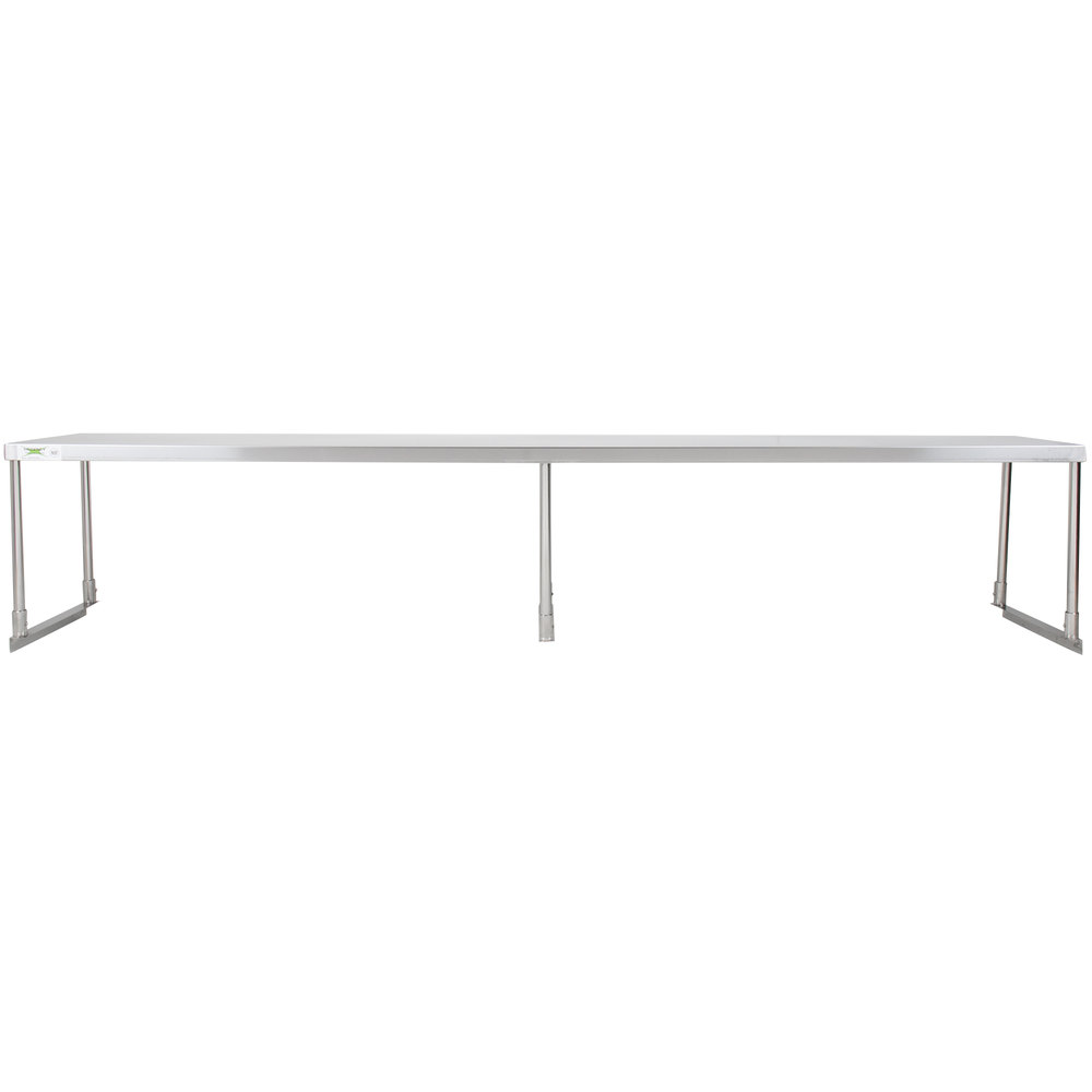 Regency Stainless Steel Single Deck Overshelf - 18 inch x 96 inch x 19 1/4 inch