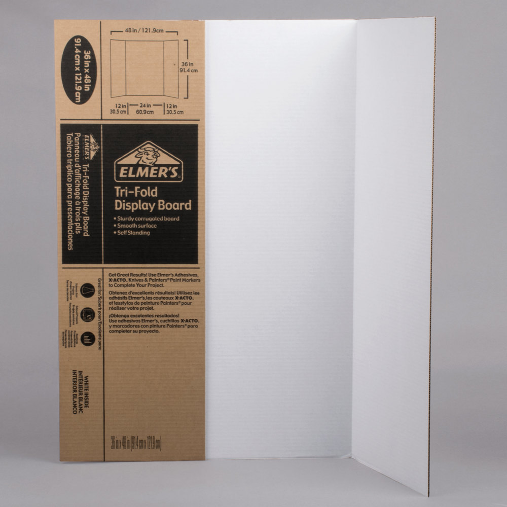 Tri-fold poster board 36 x 48