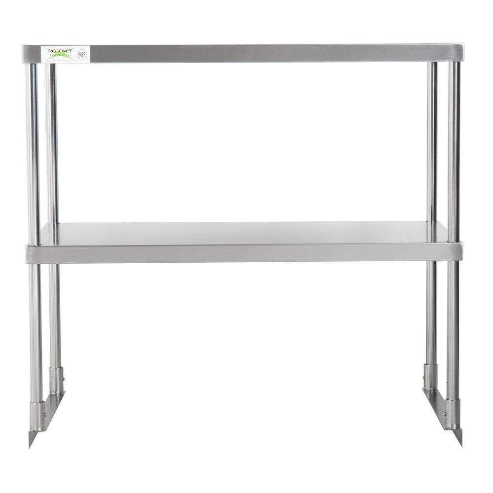 Regency Stainless Steel Double Deck Overshelf - 18 inch x 36 inch x 32 inch