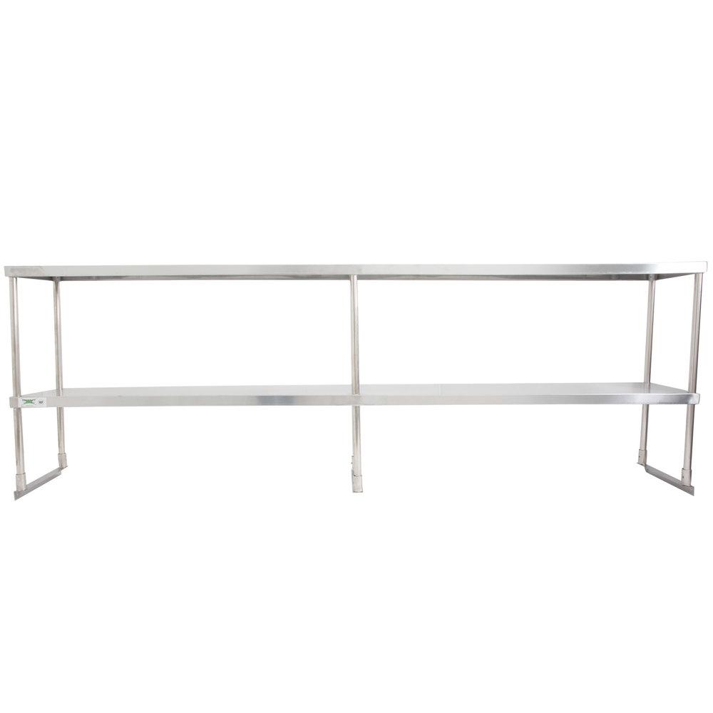 Regency Stainless Steel Double Deck Overshelf - 18 inch x 96 inch x 32 inch