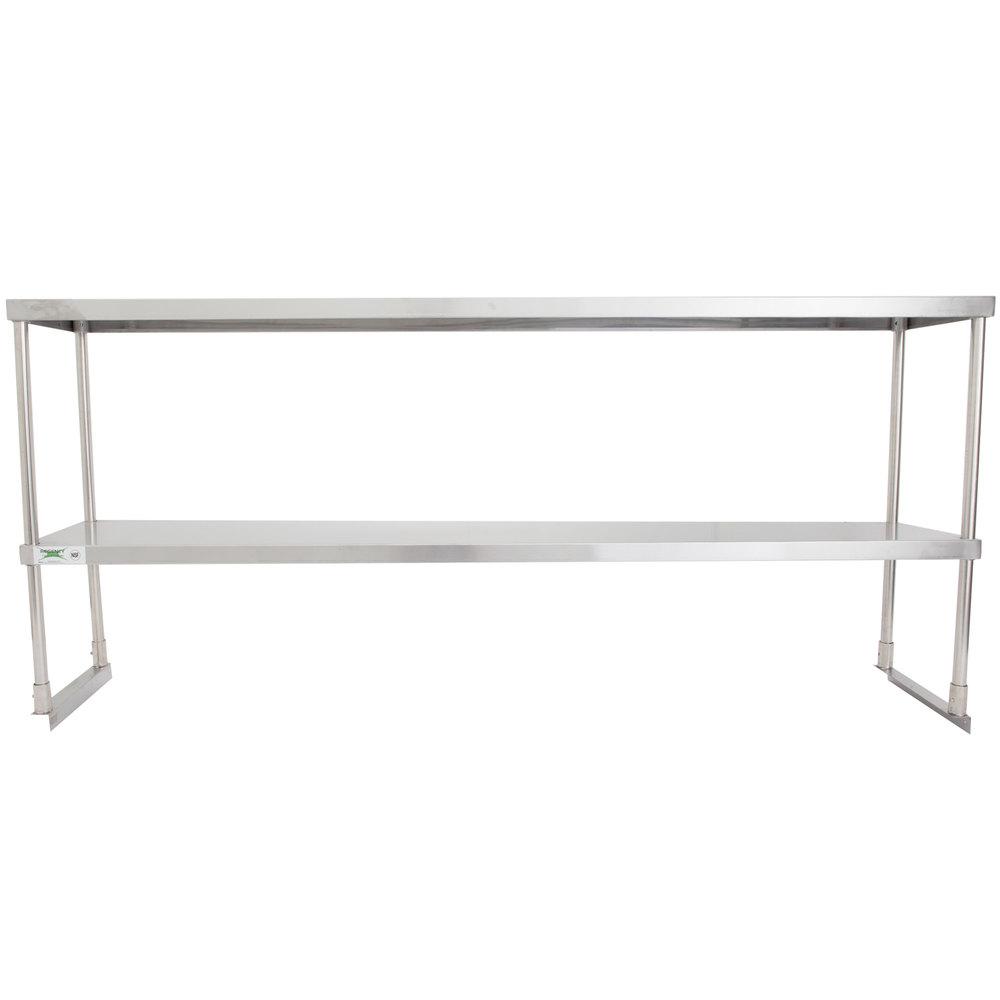 Regency Stainless Steel Double Deck Overshelf - 18 inch x 72 inch x 32 inch