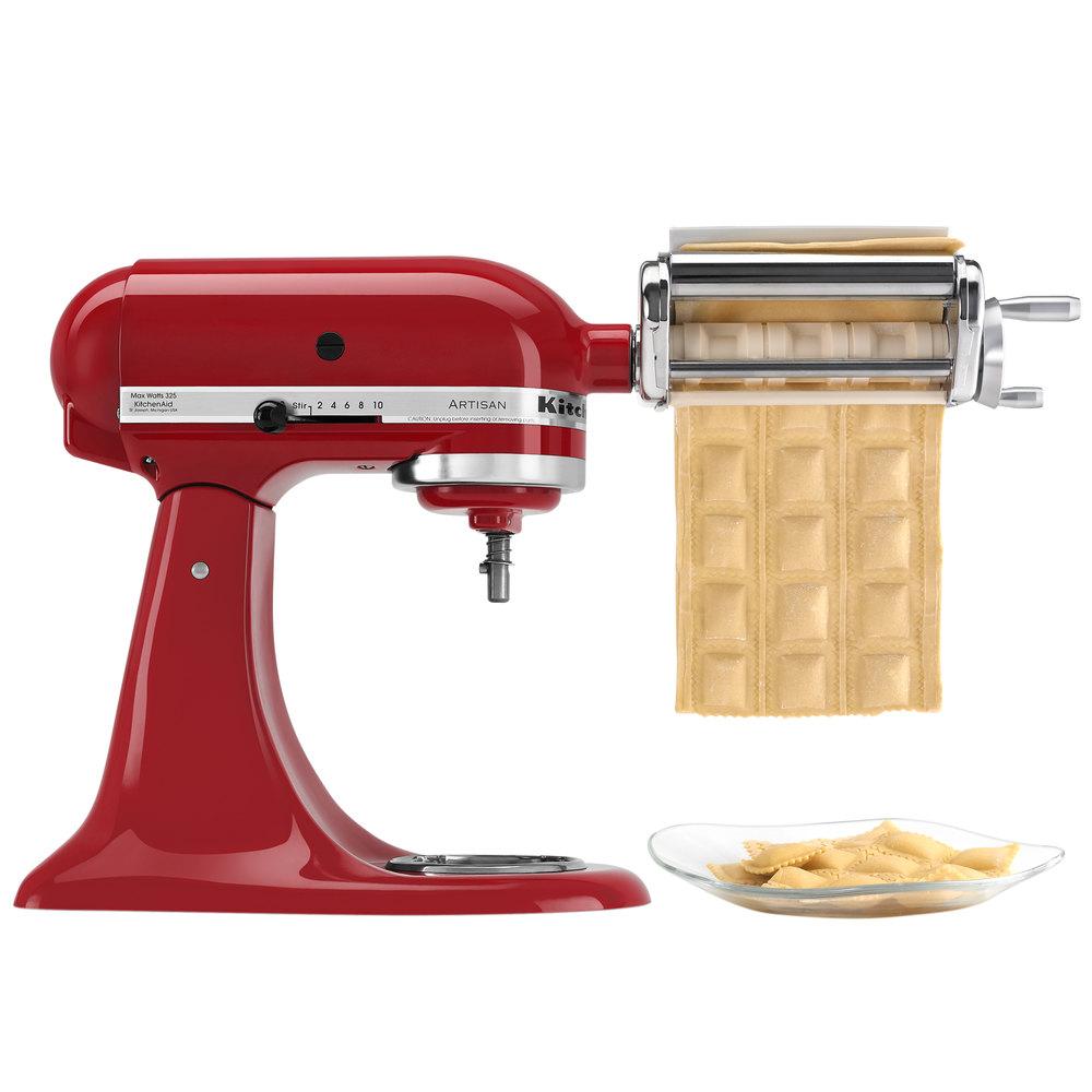 Kitchenaid krav ravioli maker attachment for kitchenaid for Kitchenaid stand mixer
