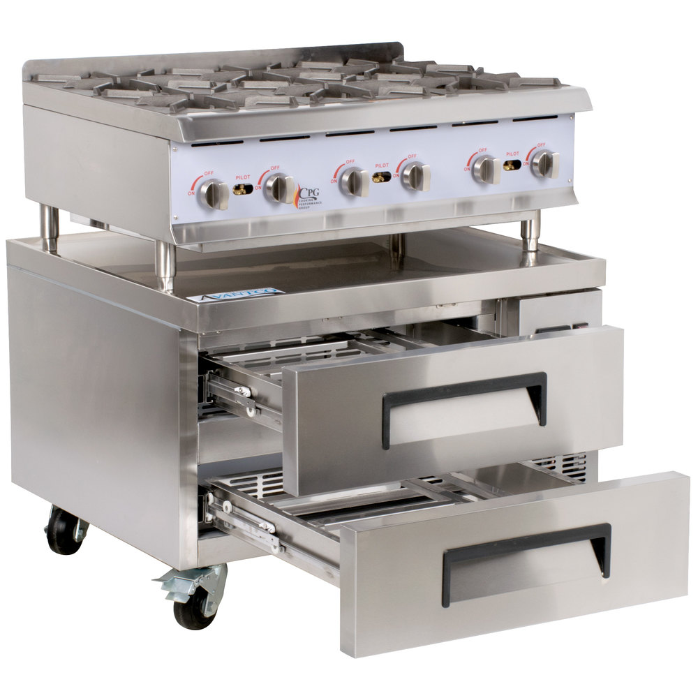 e06bfbd1516 Cooking Performance Group 36RRBNL 6 Burner Gas Countertop Range ...