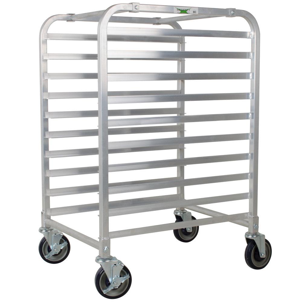 Regency 10 Pan End Load Half Height Bun / Sheet Pan Rack - Assembled