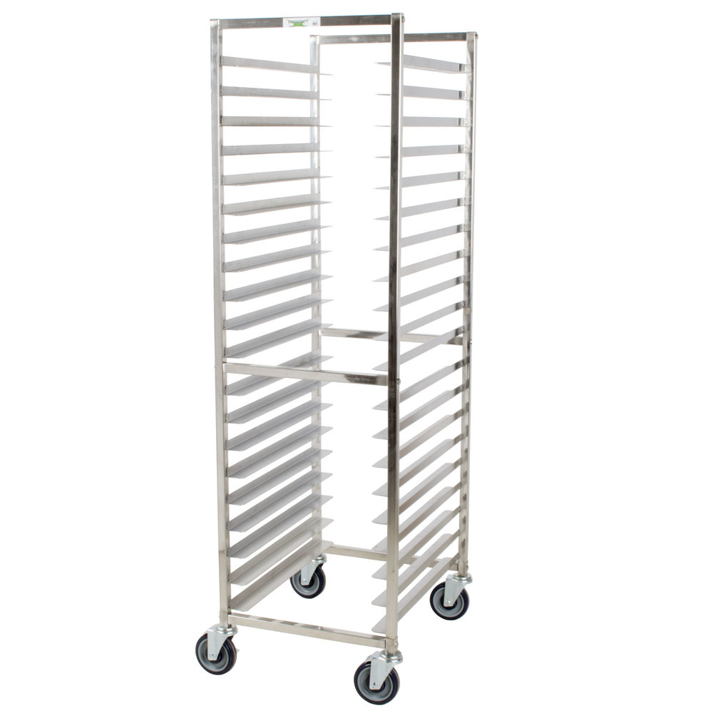 Regency 20 Pan End Load Stainless Steel Bun / Sheet Pan Rack - Assembled