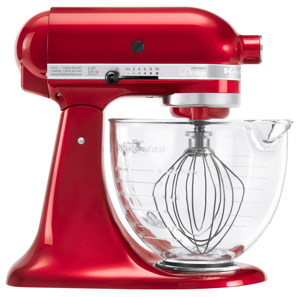 KitchenAid KSM155GBCA Candy Apple Red Premium Metallic Series 5 Qt ...