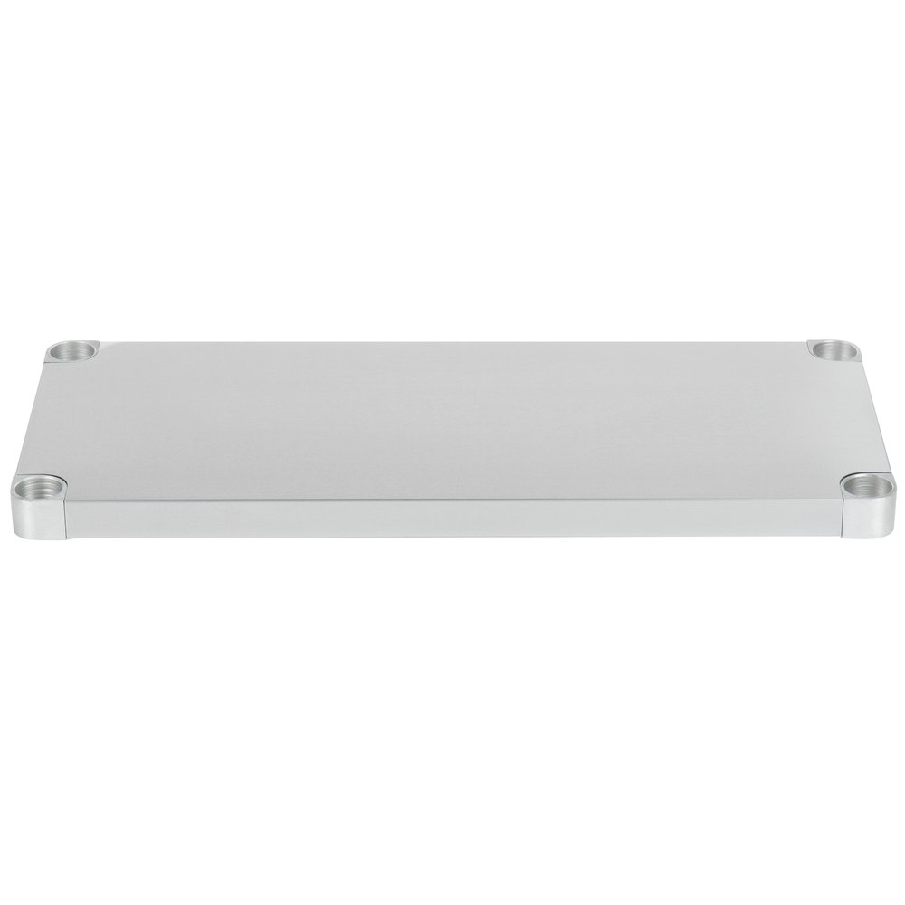 Regency Adjustable Stainless Steel Work Table Undershelf for 18 inch x 36 inch Tables - 18 Gauge