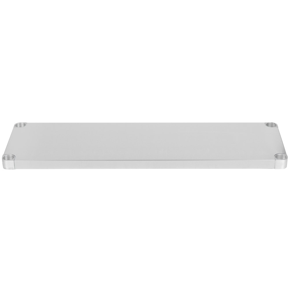Regency Adjustable Stainless Steel Work Table Undershelf for 18 inch x 48 inch Tables - 18 Gauge