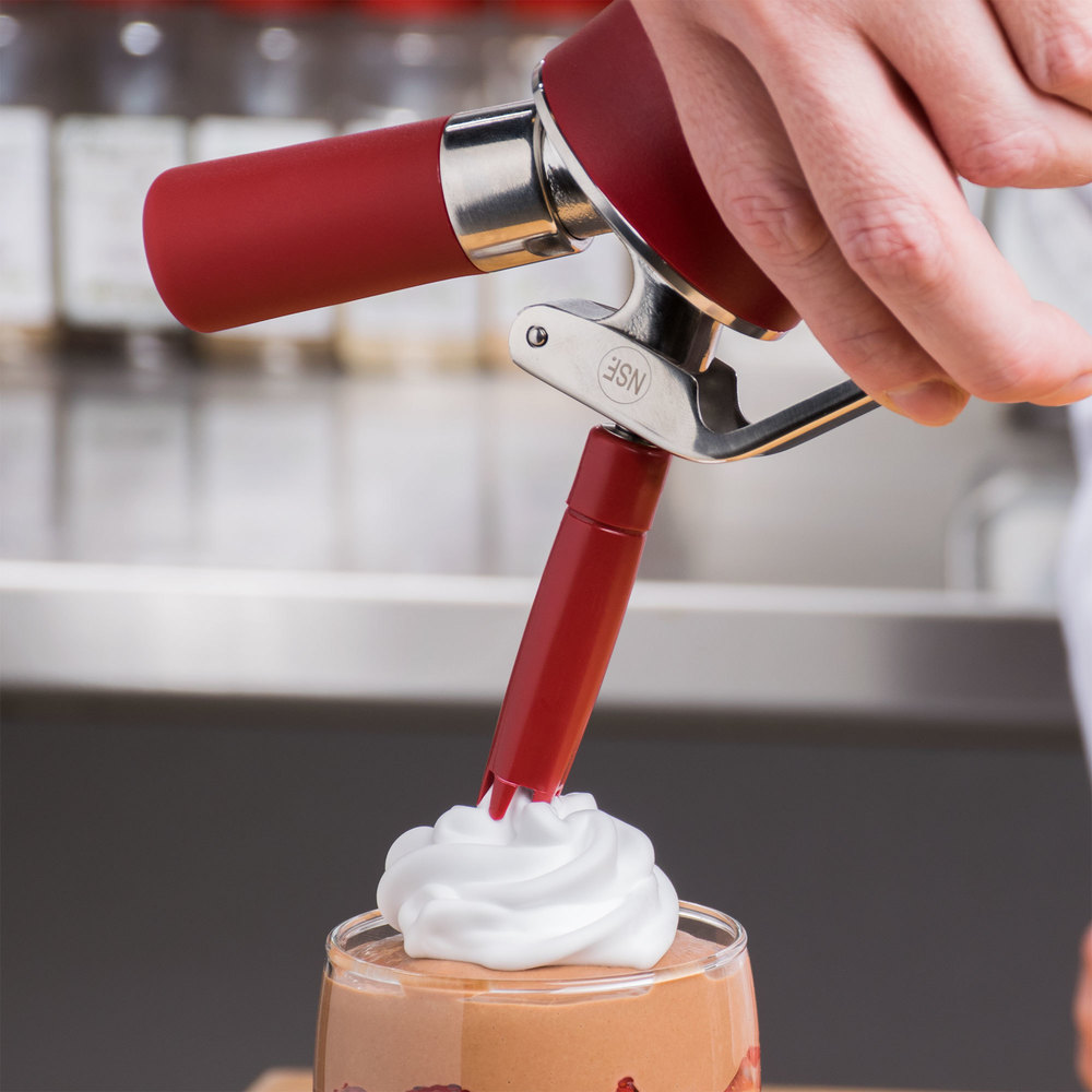 how to clean whipped cream dispenser