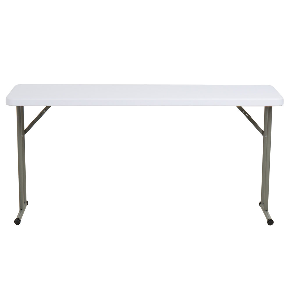 Lancaster Table Seating 18 Inch X 60 Granite White Heavy Duty Molded Plastic