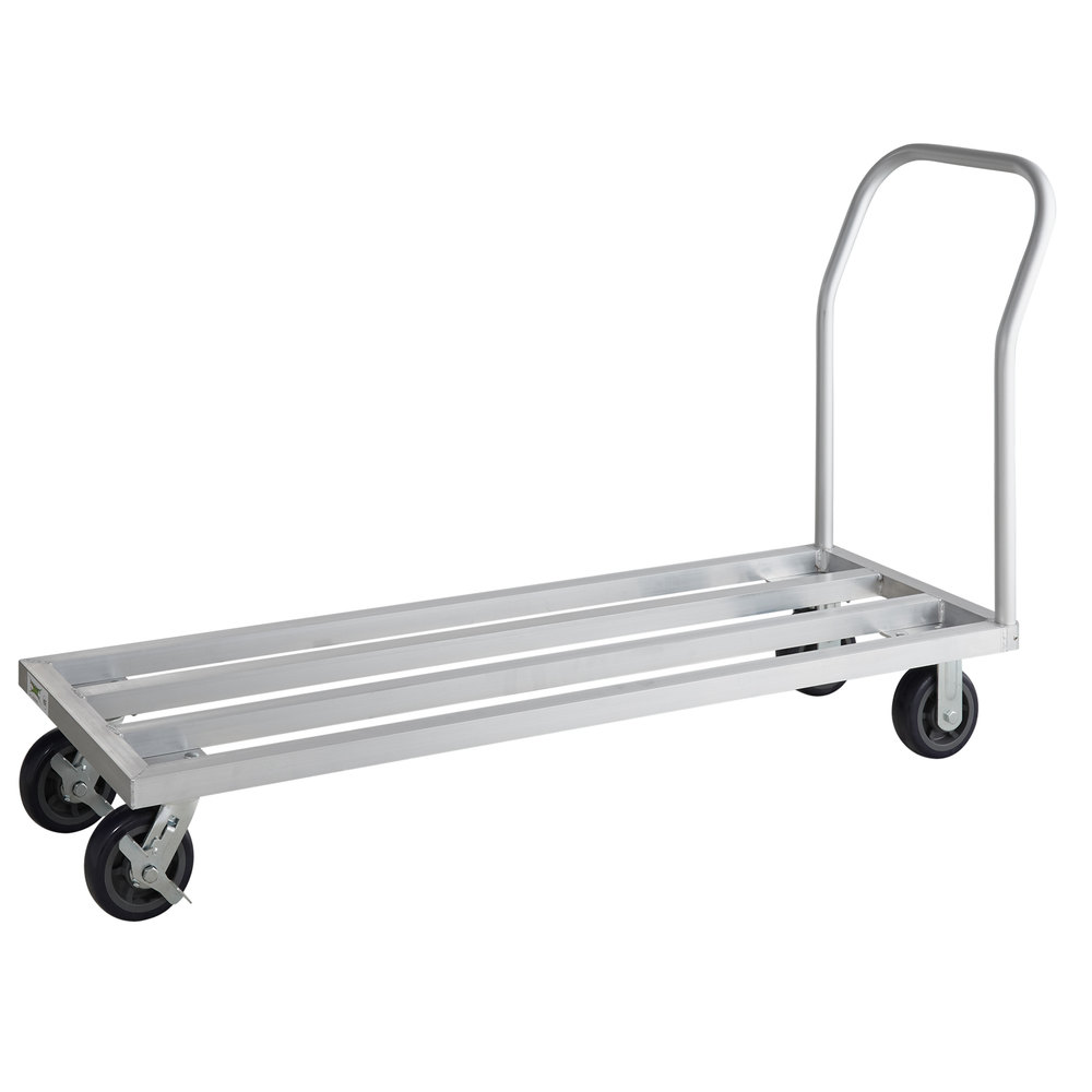 Regency 20 inch x 60 inch Mobile Aluminum Dunnage Rack - 1600 lb. Capacity