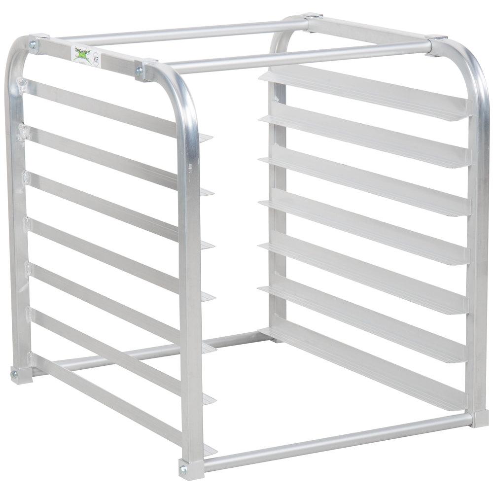 Regency 7 Pan Aluminum End Load Sheet / Bun Pan Rack for Reach-Ins - Unassembled