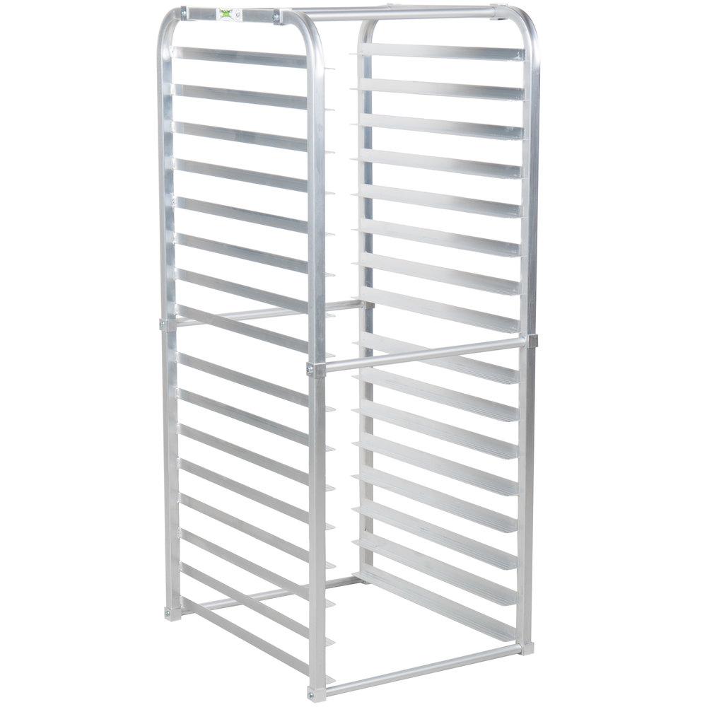 Regency 16 Pan Aluminum End Load Sheet / Bun Pan Rack for Reach-Ins - Unassembled