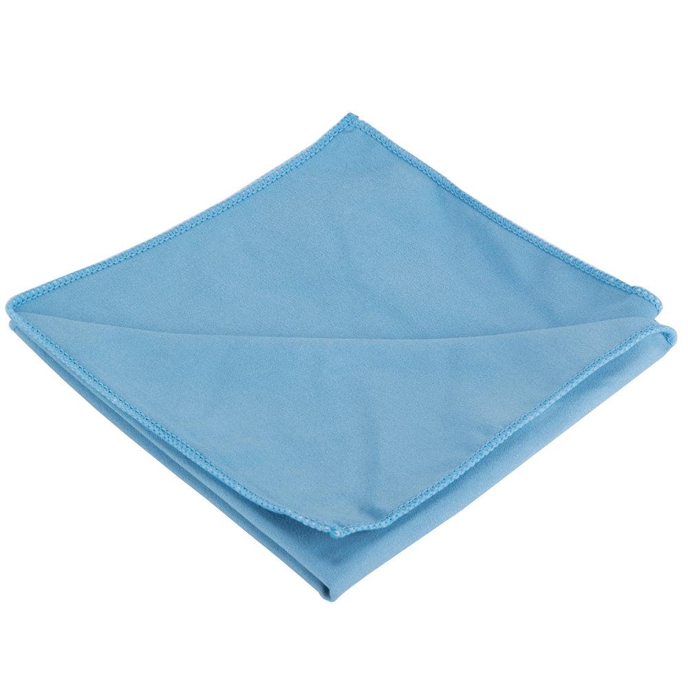 "Microfiber Cloth Guide: 15"" X 15"" Blue Microfiber Glass / Fine Polishing Cloth"