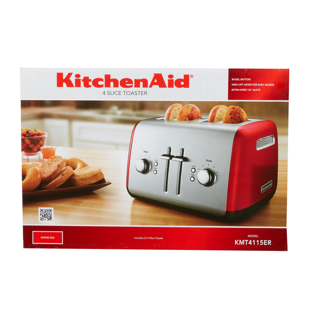 ... Image Preview · Image Preview; KitchenAid KMT4115ER Empire Red Four Slice  Toaster ...