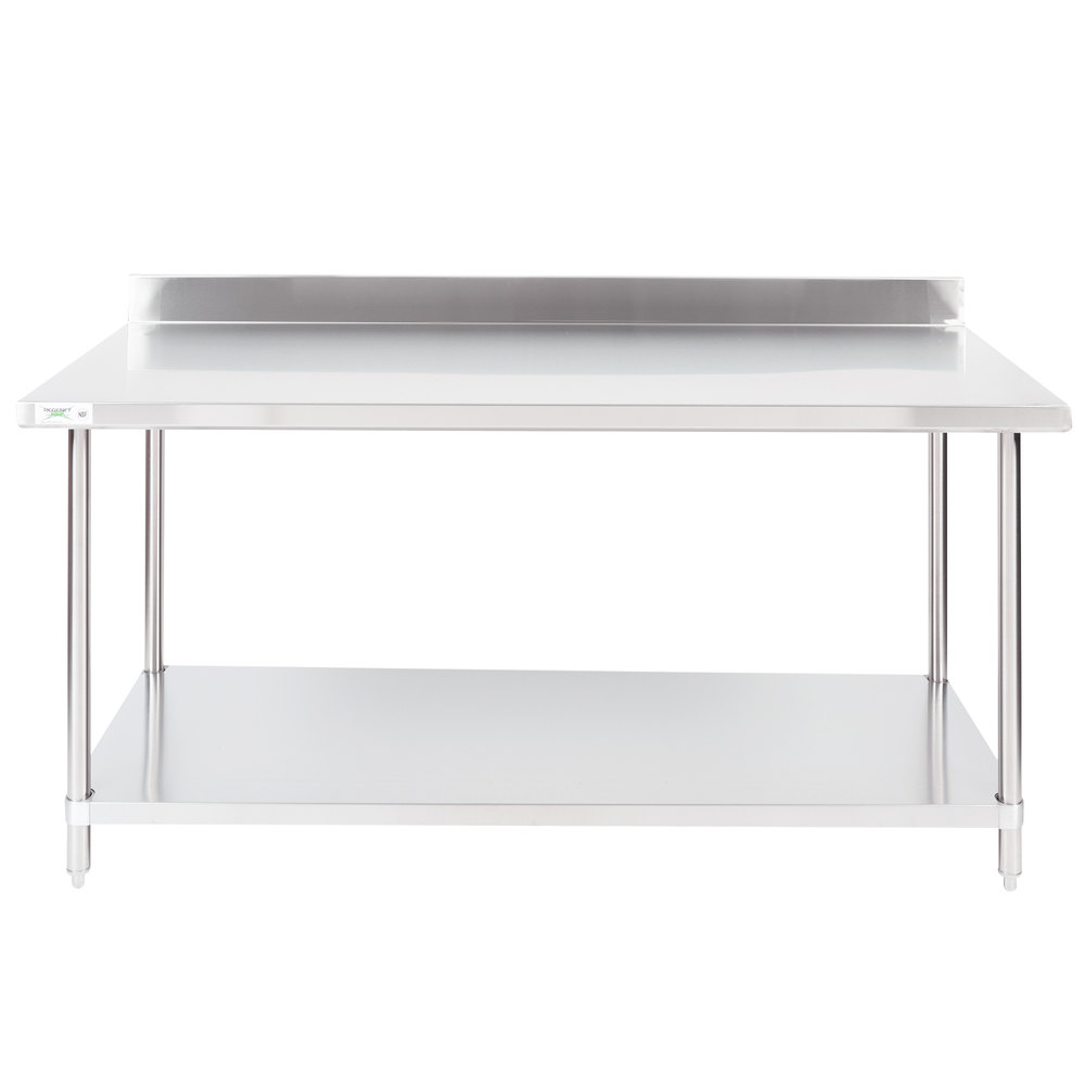 Exceptionnel Regency 30 Inch X 72 Inch 16 Gauge Stainless Steel Commercial Work Table  With 4