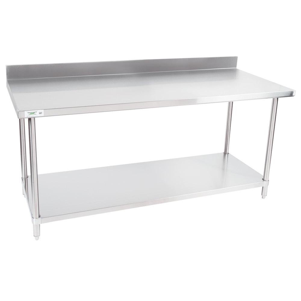 regency 30 x 72 16 gauge stainless steel commercial work table wi