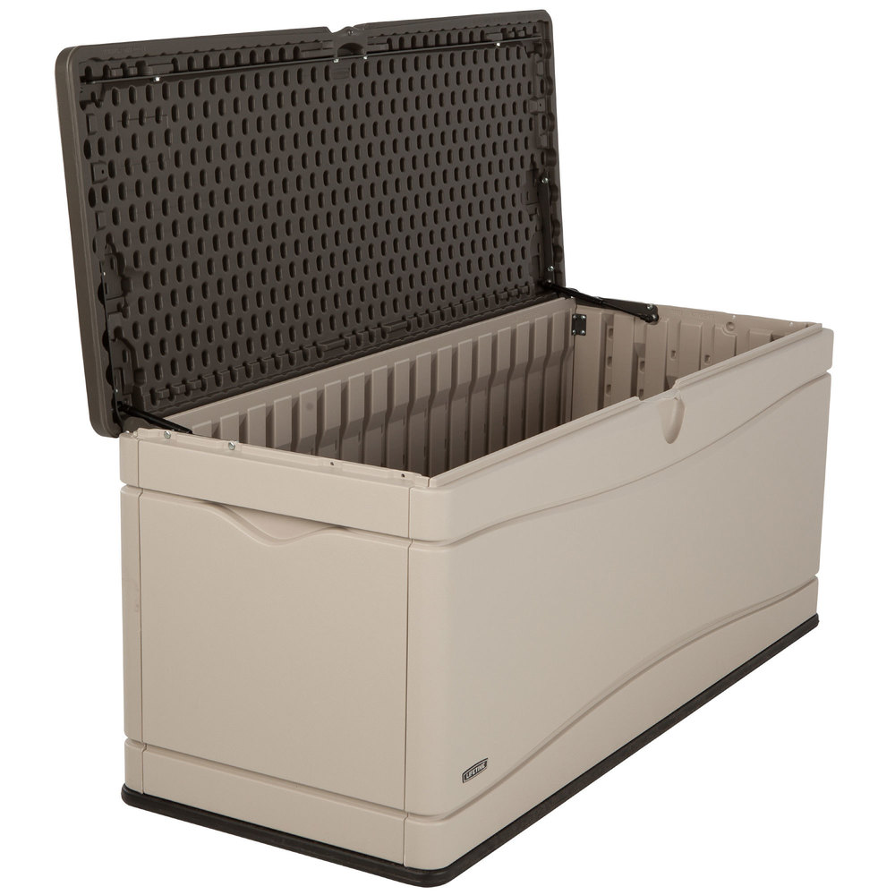 Lifetime 60012 Brown 130 Gallon Outdoor Storage Box