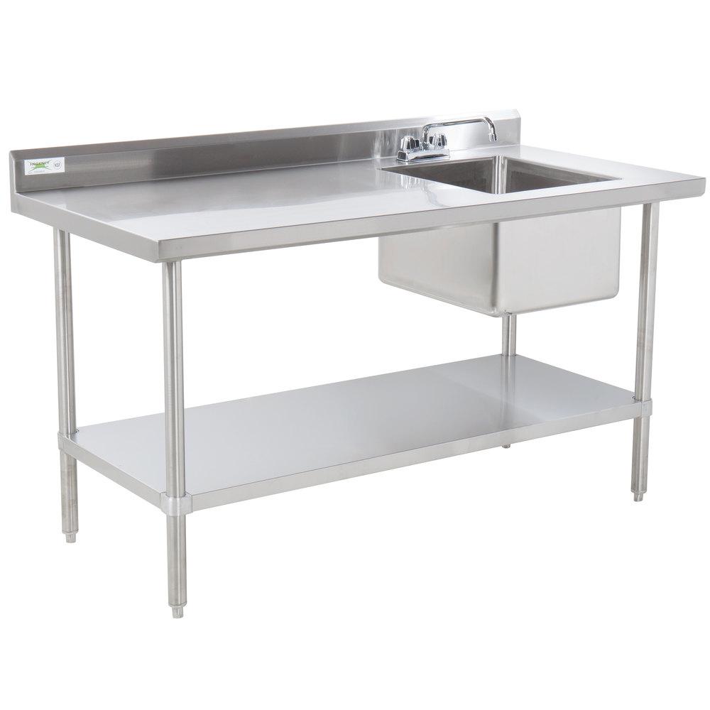 "Regency 30"" x 96"" 16 Gauge Stainless Steel Work Table with ..."