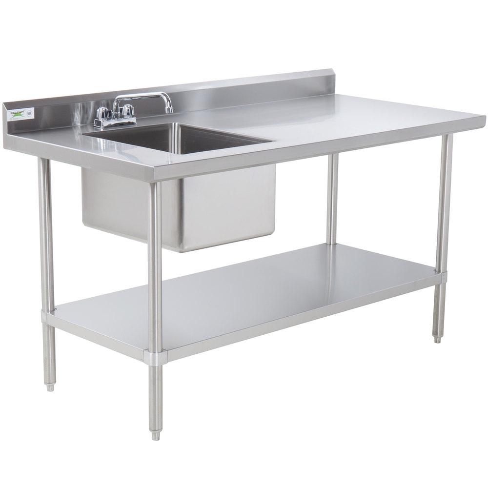 Sink On Left Regency 30 Quot X 48 Quot 16 Gauge Stainless Steel