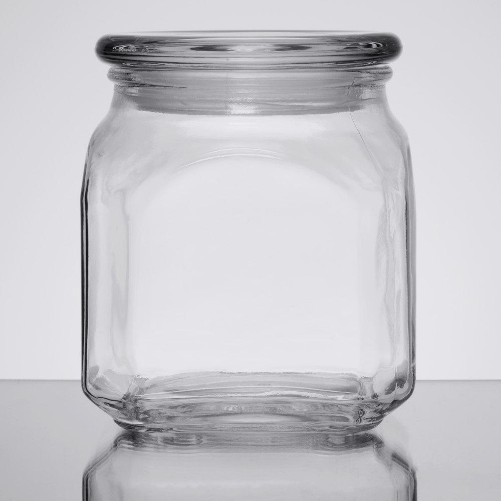 anchor hocking 85976 emma 20 oz glass jar with lid 3 case. Black Bedroom Furniture Sets. Home Design Ideas