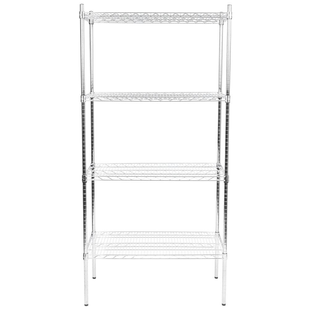 Regency 18 inch x 36 inch NSF Stainless Steel Shelf Kit with 74 inch Posts