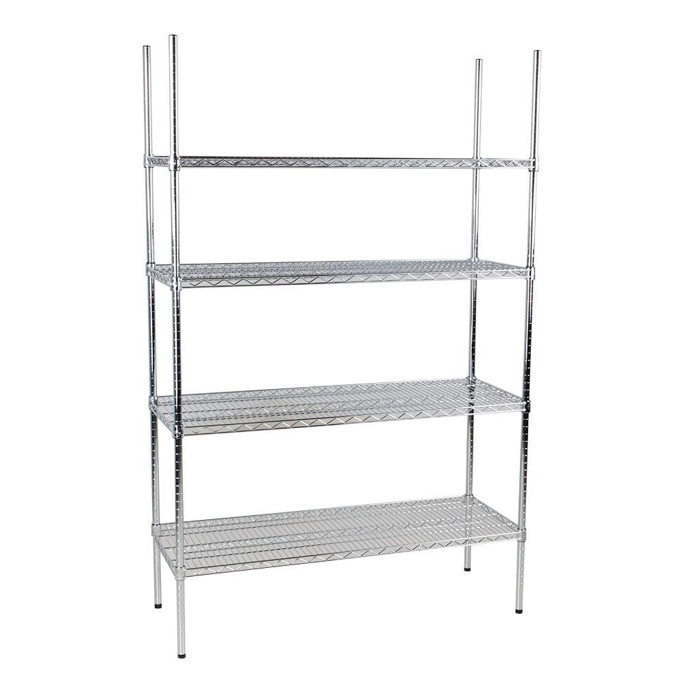 Regency 18 inch x 48 inch NSF Stainless Steel Shelf Kit with 74 inch Posts