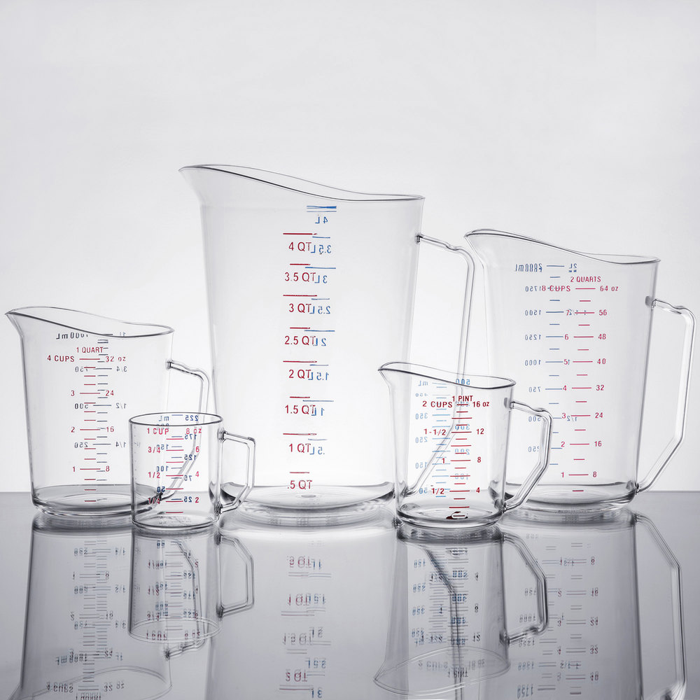 Cambro Camwear 5 Piece Measuring Cup Set