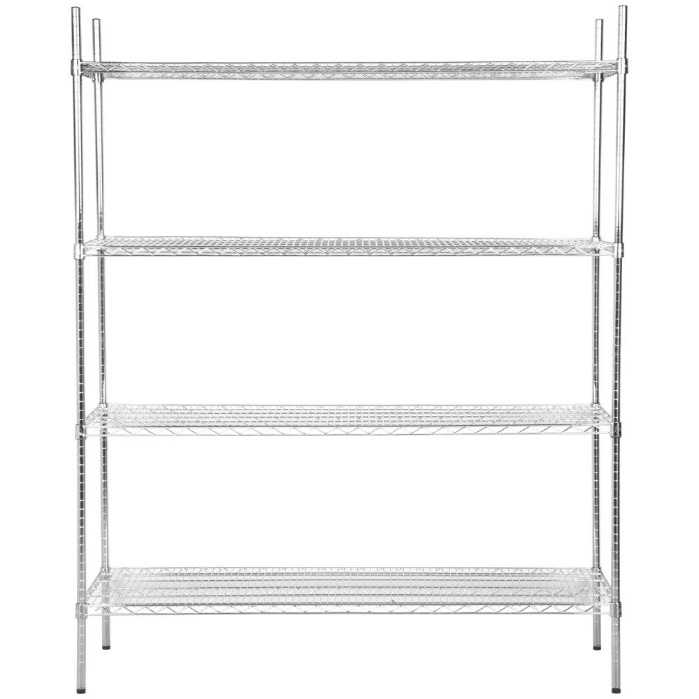 Regency 24 inch x 60 inch NSF Stainless Steel Shelf Kit with 74 inch Posts