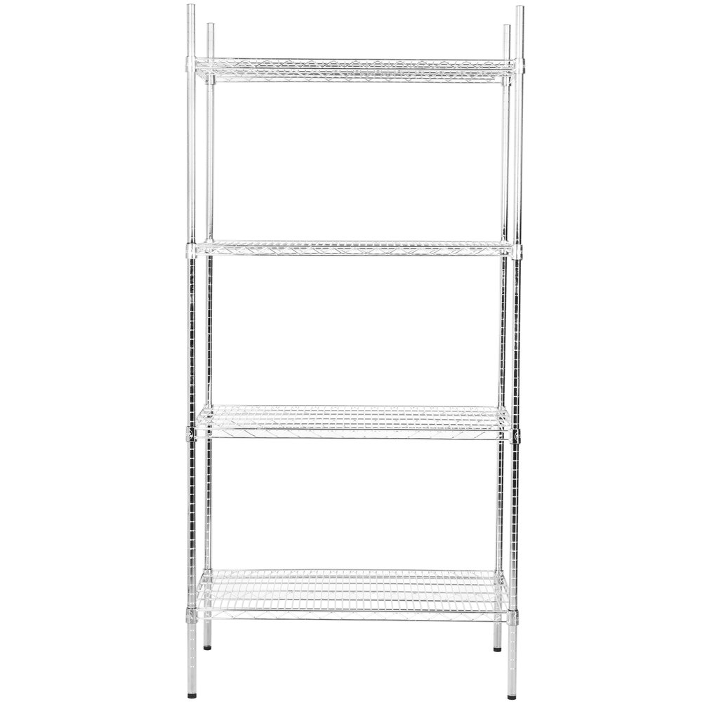 Regency 24 inch x 36 inch NSF Stainless Steel Shelf Kit with 74 inch Posts