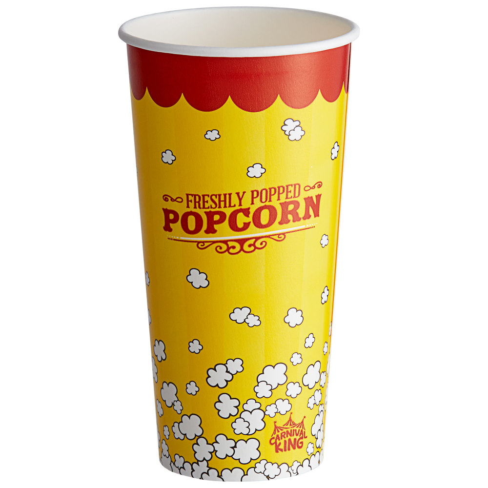 Carnival King 24 oz. Popcorn Cup - 1000/Case