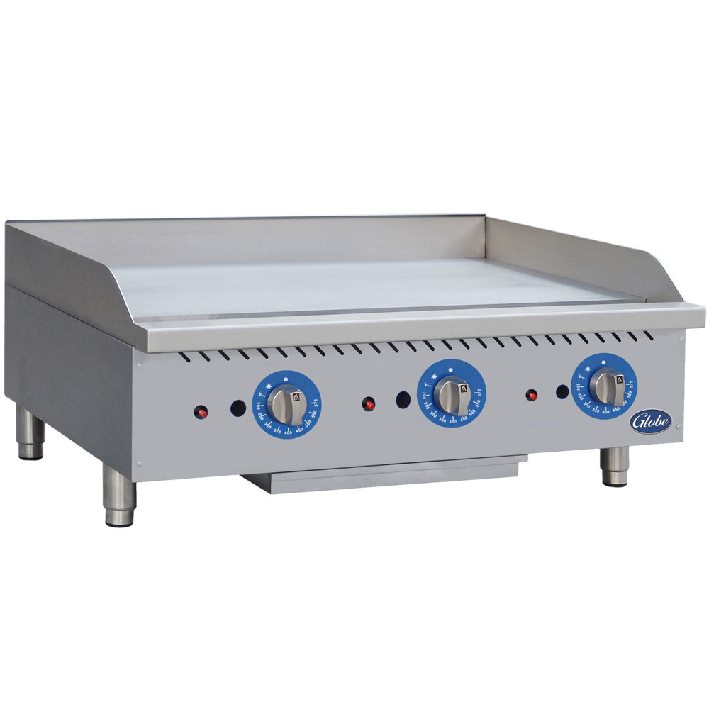 Commercial Griddles For Restaurants ~ Globe gg tg quot countertop gas griddle with thermostatic
